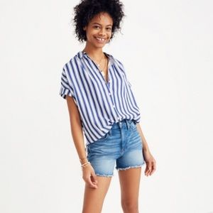 NWT Madewell Central Shirt in Shea Stripe